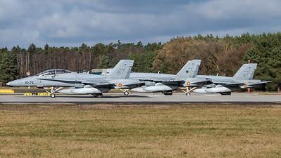 Spanish Air Force Ala 12 & 15 / McDonnell Douglas EF-18A+ & B+ Hornets / CE.15-06 15-75 & C.15-51 12-09 & C.15-30 15-17