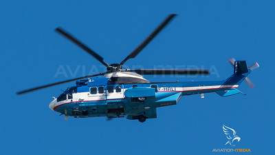 Super Puma over Blagnac (Toulouse)