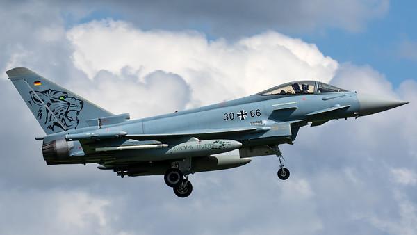 "Luftwaffe TLG 74 / Eurofighter Typhoon / 30+66 / ""Bavarian Tiger 2019"""