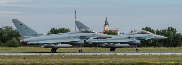 Luftwaffe TaktLwG 74 / Eurofighter / 31+00 & 31+02