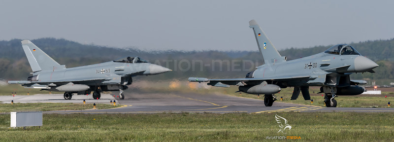 German Air Force TLG74 / Eurofighter Typhoon / 31+00, 30+53