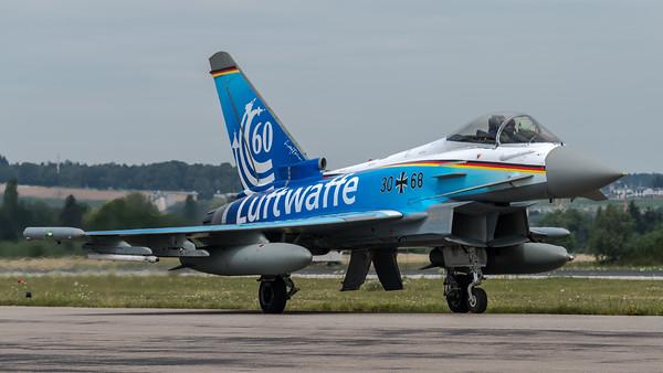 Luftwaffe TaktLwG 74 / Eurofighter / 30+68 / 60 Jahre Luftwaffe Livery