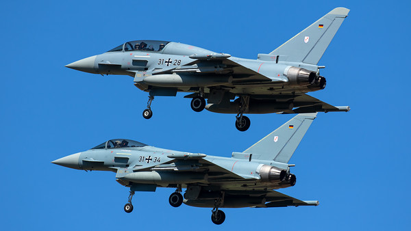 Luftwaffe - TLG 31 / Eurofighter Typhoon / 31+28 & 31+34