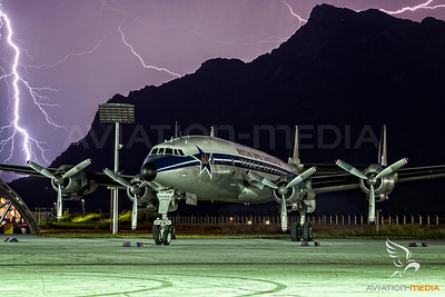 Super Connie during thunderstorm...