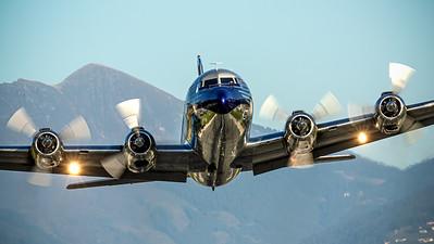 Flying Bulls DC-6 take off @ Innsbruck