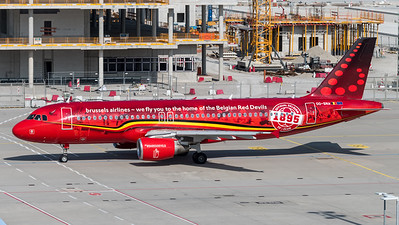 Brussels Airlines / Airbus A320-214 / OO-SNA / Belgian Red Devlis Livery