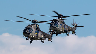 Swiss Air Force T-342 Eurocopter AS. 532UL Cougar and T-312 Eurocopter AS. 332M1 Super Puma