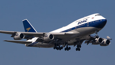 British Airways Boeing B747-400 G-BYGC (BOAC Retro livery)