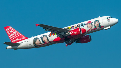 Air Asia Malaysia Airbus A320 9M-AFP (Amazing livery with 3000th Airbus A320 tail livery)