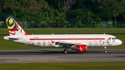 Air Asia Malaysia (Lat's Kampung Boy characters cartoon livery) Airbus A320 9M-AFJ