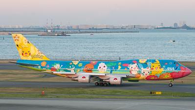 ANA - All Nippon Airways Boeing B747-400 JA8956 (Pokemon livery)