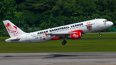 Air Asia Malaysia (ABL - Asean Basketball League livery) Airbus A320 9M-AFE -