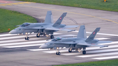 Swiss Air Force McDonnell Douglas F/A-18C Hornet J-5002 and J-5012