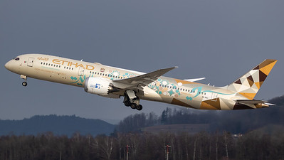 Etihad Boeing B787-9 A6-BLI Choose Saudi Arabia livery
