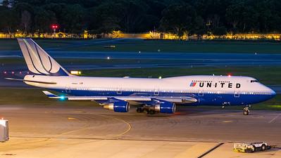 United Boeing B747-400 N199UA