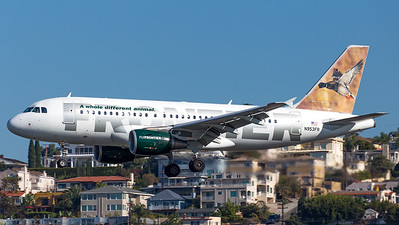 Frontier Airbus A329 N953FR - O'Malley the Mallard livery