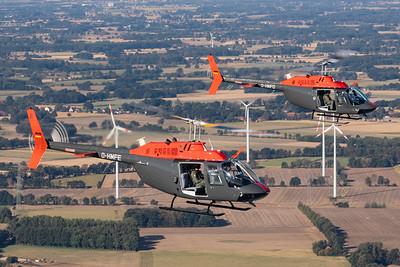Motorflug Baden-Baden / Bell 206B JetRanger III / D-HMFE and D-HMFD