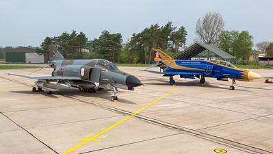 Germany - Air Force / McDonnell Douglas F-4F Phantom II / 38+10 and 37+01