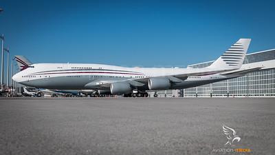 Qatar Governmental 747-8 (Munich)