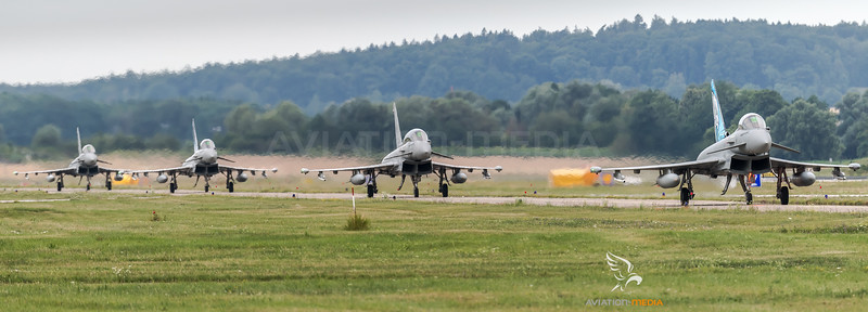 ItAF 36 Stormo / Eurofighter Typhoon F-2000A & Typhoon F-2000(T) / MM7341 36-10 & MM7312 36-34 & MM7322 36-40 & MM55128 36-64 / Tigermeet Livery & Tigermeet Livery
