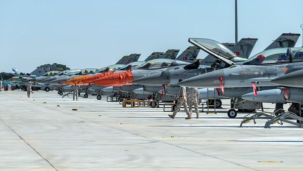 Anatolian Eagle Ramp / Turkish Air Force F-16 & Azerbaijan Air Force Su-25, MiG-29 & Qatar Amiri Air Force Rafale EQ, DQ