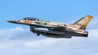Israeli Air Force 107 Squadron / Lockheed Martin F-16D Block 52 / 874