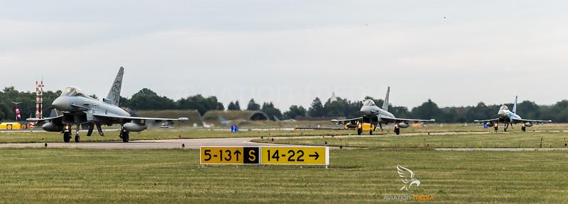 Luftwaffe TaktLwG 74 / Eurofighter / 30+66 & 31+11 & 30+68 / Tigermeet 2019 Livery & 60 Jahre Luftwaffe Livery