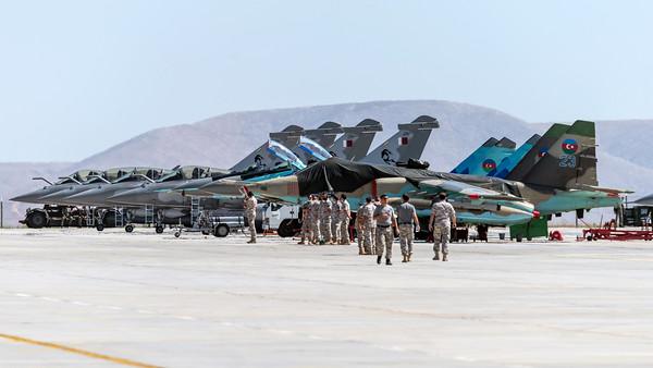 Anatolian Eagle Ramp / Azerbaijan Air Force Su-25, MiG-29 & Qatar Amiri Air Force Rafale EQ, DQ