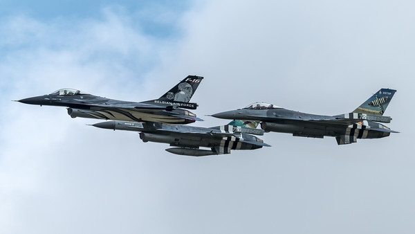 BAF 350 Squadron & 349 Squadron / Lockheed F-16A-20 MLU Fighting Falcon / FA-101 & FA-57 & FA-124 / Vador Livery & 75th Anniversary Livery