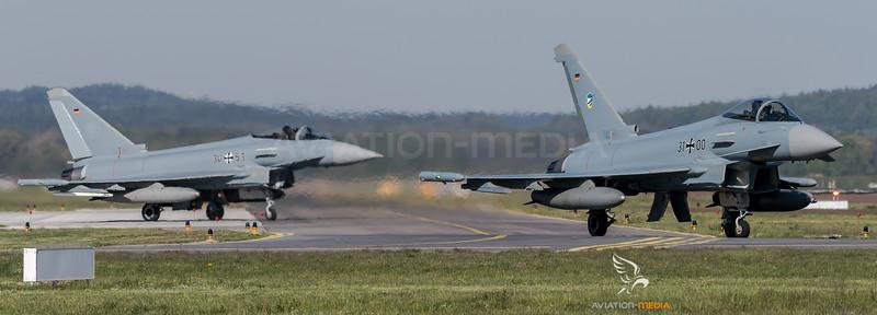 German Air Force TLG74 / Eurofighter Typhoon / 31+00, 30+53