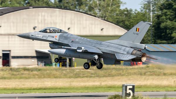 Belgian Air Force 1st Squadron / General Dynamics F-16AM / FA-92