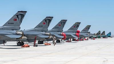 Anatolian Eagle Ramp / Turkish Air Force F-16 & Azerbaijan Air Force Su-25, MiG-29