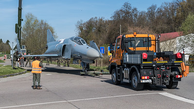 German Air Force JG-74 on the move / McDonnellDouglas F-4F Phantom II / 37+61