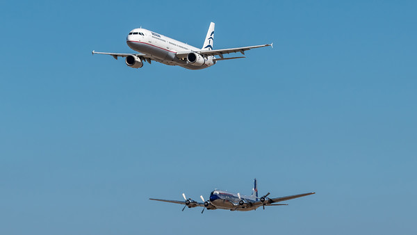 Aegean, Flying Bulls / Airbus A321-231, Douglas DC-6B / SX-DGA, OE-LDM / Flying Bulls Livery