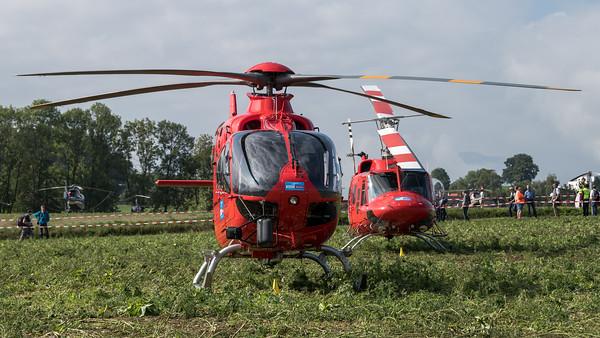 Heli Austria / Airbus Helictopters H135 & Agusta-Bell AB212 / OE-XUU & OE-XKK