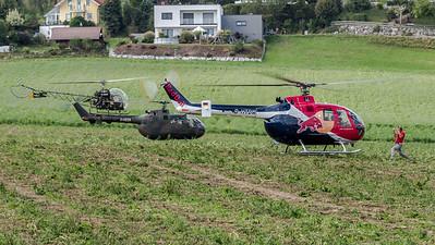 Flying Bulls & Private & Private / MBB Bo105C & MBB Bo-105 & Bell 47G / D-HTDM & D-HEER & D-HWAL