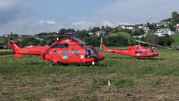 Heli Austria / Airbus Helicopters AS332 & Agusta-Bell AB212 / OE-XJP & OE-XKK