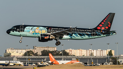 Brussels / Airbus A320-214 / OO-SNB / Tintin Livery