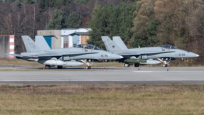 Spanish Air Force Ala 12 & 15 / McDonnell Douglas EF-18B+ & A+ Hornets / CE.15-06 15-75 & C.15-51 12-09