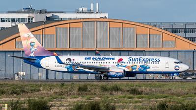 """SunExpress / Boeing B737-8Z9 / D-ASXB / """"Schlümpfe"""""""