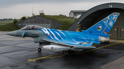 """German Air Force TLG-74 / Eurofighter Typhoon / 31+01 / The """"Bavarian"""" Tiger Livery"""
