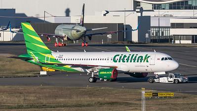Citilink / Airbus A320-214(SL) / F-WWBQ (to be PK-GQQ)