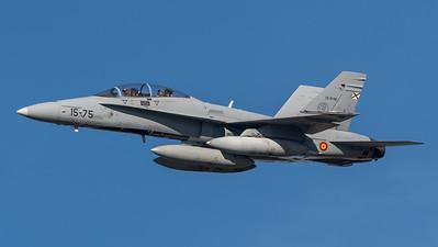 Spanish Air Force Ala 15 / McDonnell Douglas EF-18B+ Hornet / CE.15-06 15-75