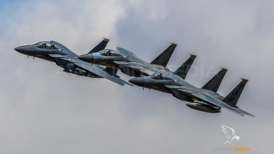USAF 493 FS, 494 FS / Boeing F-15C Eagle, Boeing F-15E Strike Eagle / 86-0174 LN & 86-1076 LN, 91-0313 LN