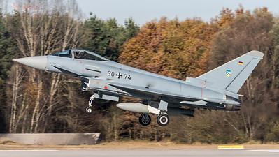 German Air Force TLG-74 / Eurofighter Typhoon / 30+74