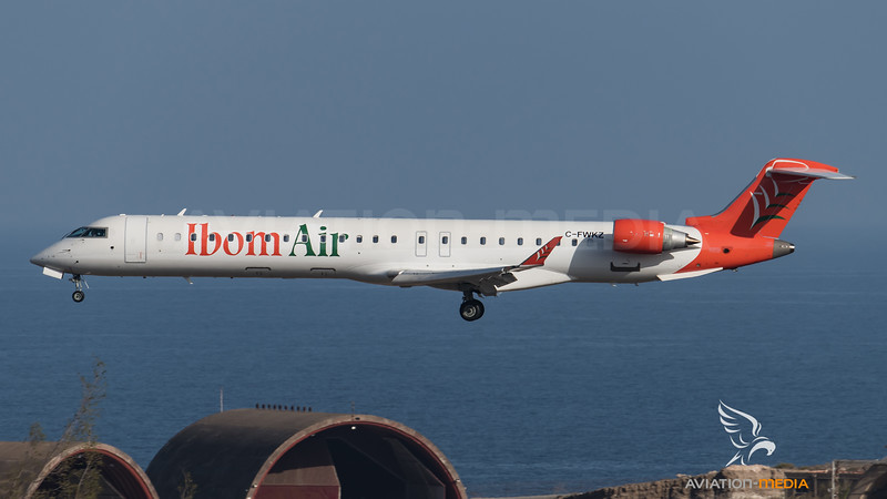 Ibom Air CRJ900 on Delivery (Gran Canaria)