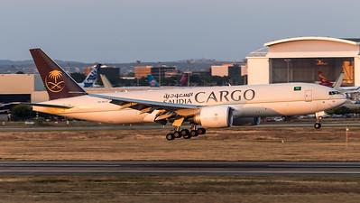Saudi Cargo / Boeing B777-FFG/ HZ-AK73
