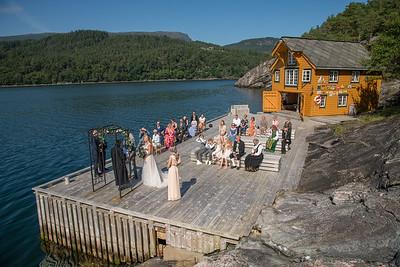 Bryllup for Nina & Cato på Hardingasete