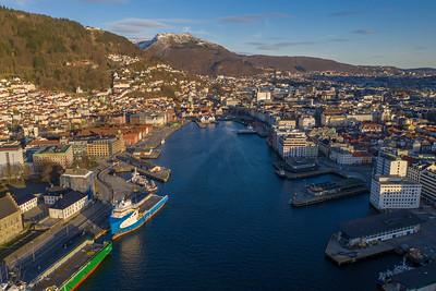 Bergen, dronefoto