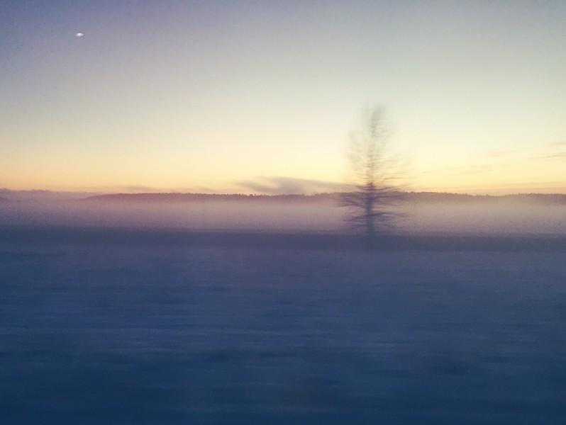 På Pendeltåget Stockholm-Uppsala